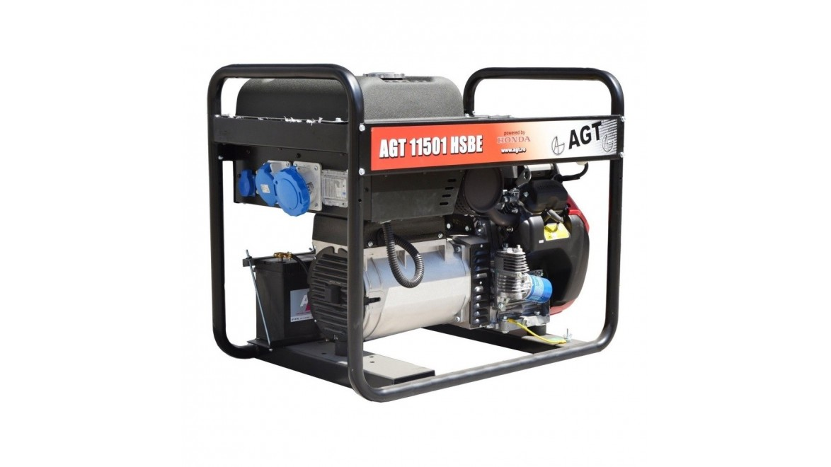 Бензиновый генератор AGT 11501 HSBE R16