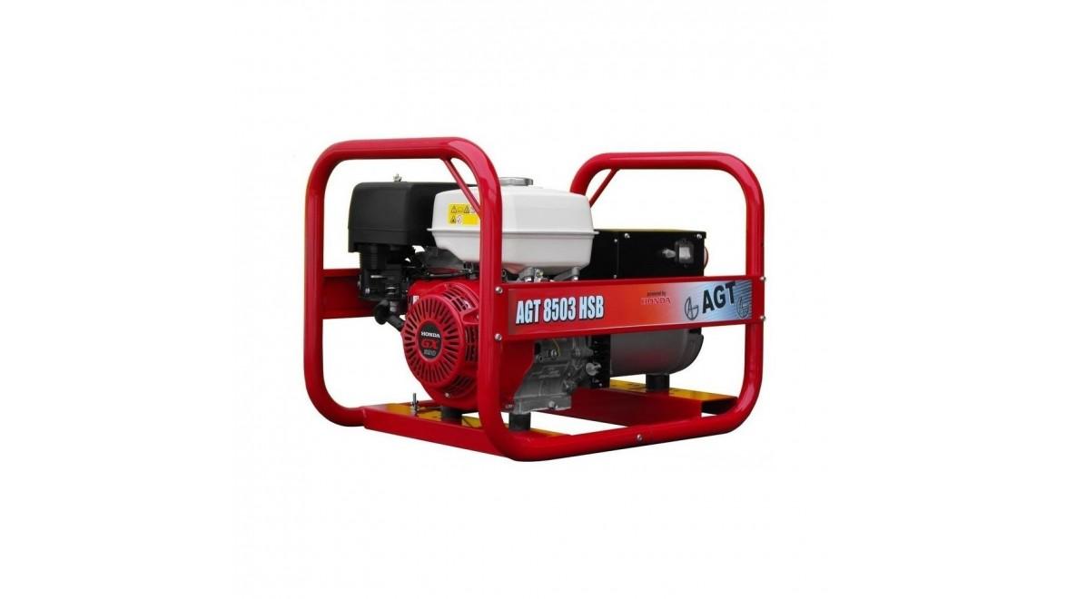 Бензиновый генератор AGT 8503 HSB
