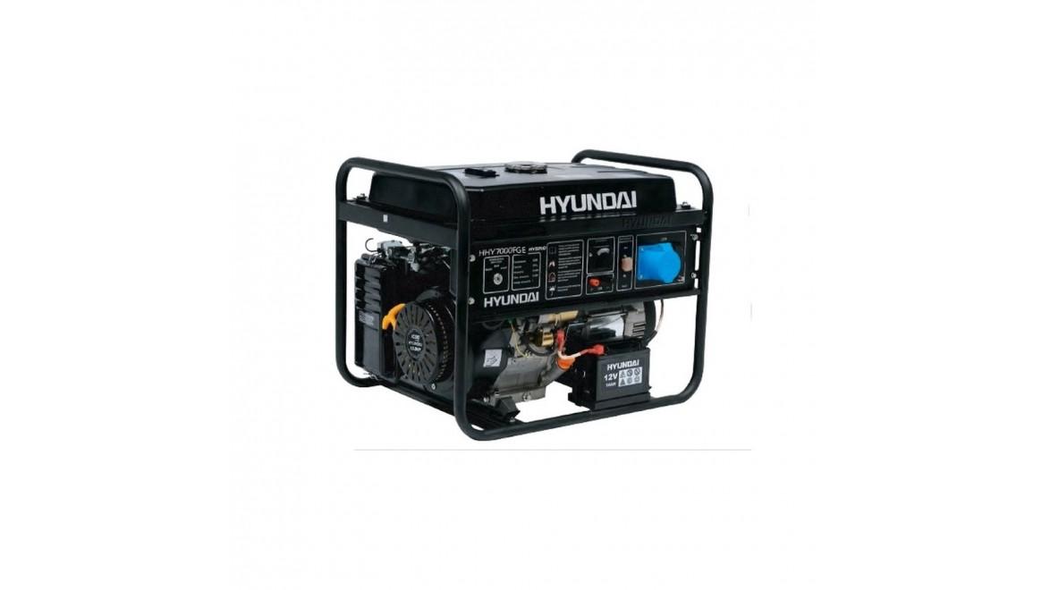 Генератор двухтопливный Hyundai HHY 7000 FGE