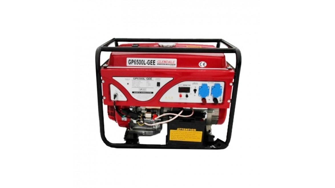 Бензиновый генератор Glendale GP6500L-GEE/3 АКБ