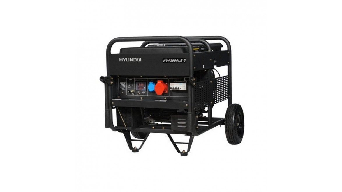 Бензиновый генератор Hyundai HY 12000 LE 3