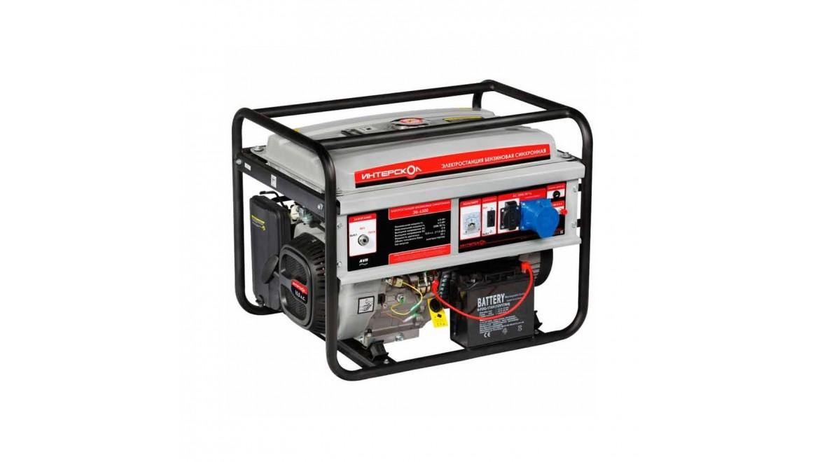 Бензиновый генератор Интерскол ЭБ-6500