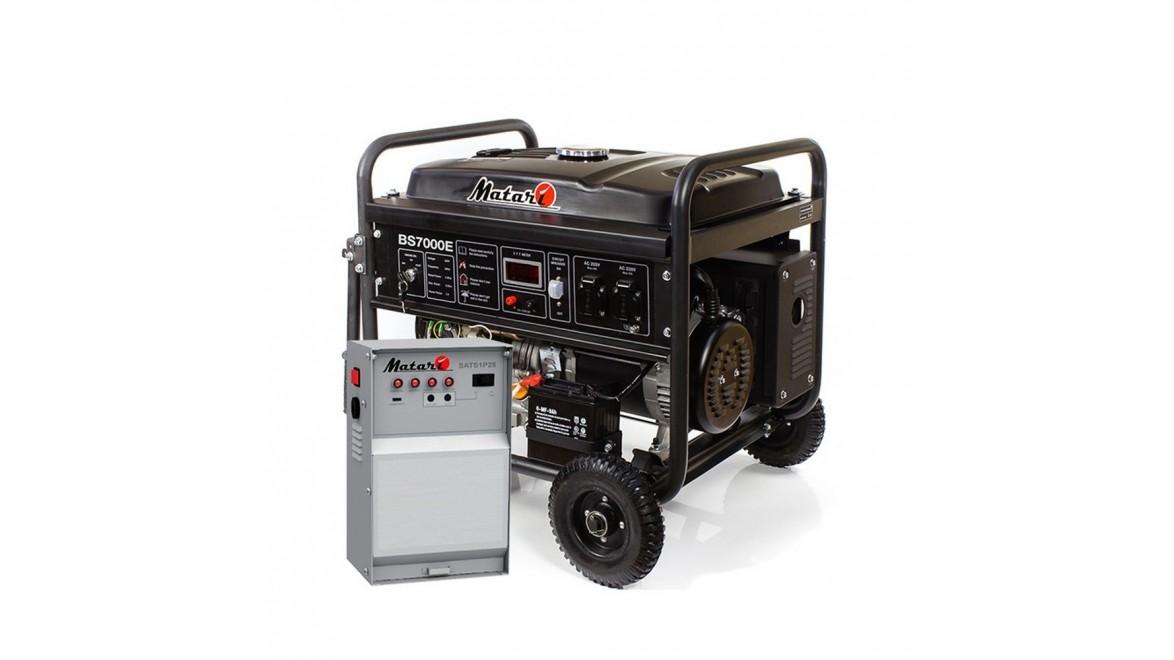 Бензиновый генератор Matari BS7000E ATS